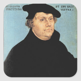 Martin Luther, c.1532 Square Sticker