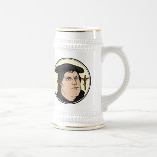 Martin Luther confessing Christ crucified stein Beer Steins