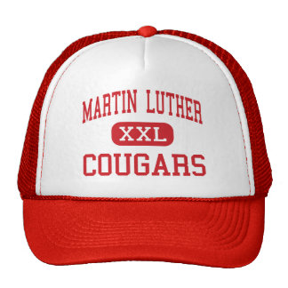 Martin Luther - Cougars - High - Maspeth New York Mesh Hat