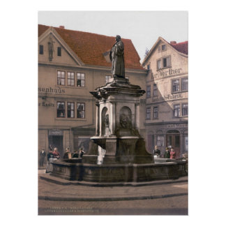 Martin Luther Fountain Poster