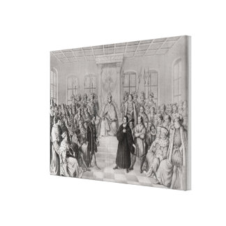 Martin Luther in front of Charles V Gallery Wrap Canvas