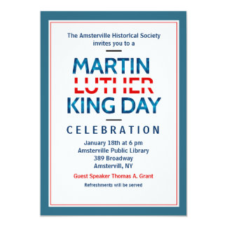 Martin Luther King Jr. Invitation