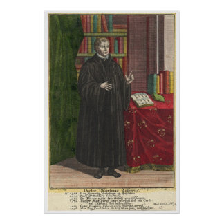 Martin Luther portrait Poster