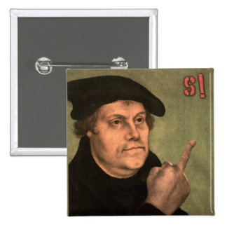 "Martin Luther ""stinking finger "" 2 Inch Square Button"