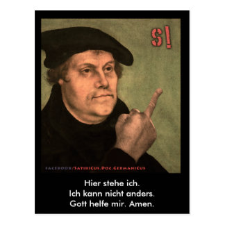 "Martin Luther ""stinking finger "" Postcard"