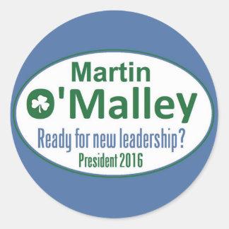 Martin O'MALLEY 2016 Round Sticker