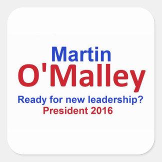 Martin O'MALLEY 2016 Square Sticker