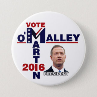 Martin O'Malley for President 2016 3 Inch Round Button