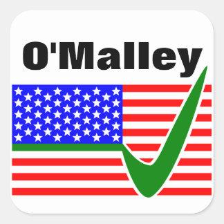 Martin O'Malley  For President 2016 Square Sticker