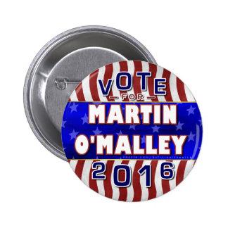 Martin O'Malley President 2016 Election Democrat 2 Inch Round Button