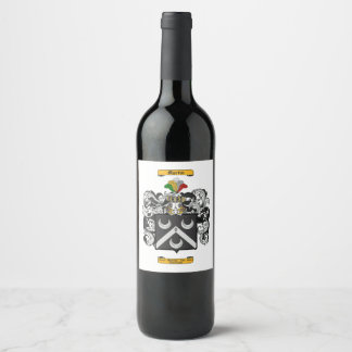 Martin (Scottish) Wine Label