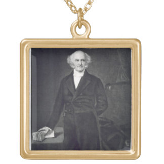 Martin Van Buren, 8th President of the United Stat Gold Plated Necklace