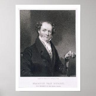 Martin Van Buren, engraved by E. Wellmore (engravi Poster