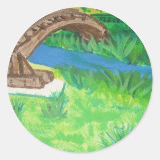 Martinez Bridge in CA Round Sticker