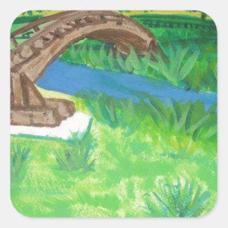 Martinez Bridge in CA Square Sticker