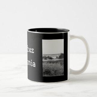 Martinez in Black and White Two-Tone Coffee Mug
