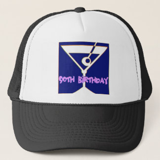 Martini 90th Birthday Gifts Trucker Hat