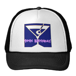 Martini 90th Birthday Gifts Trucker Hat