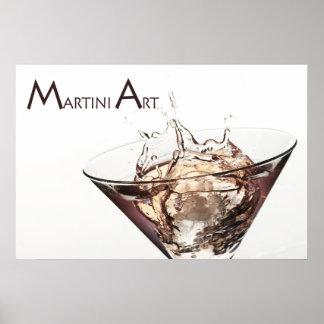 Martini Art Poster