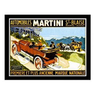Martini Automobiles St. Blaise Postcard