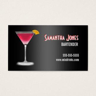 Martini Bartender Business Card