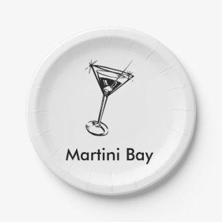 Martini Bay Paper Plate