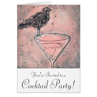 Martini Bird Bath Cocktail Party Invite