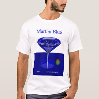 Martini Blue (front) T-Shirt