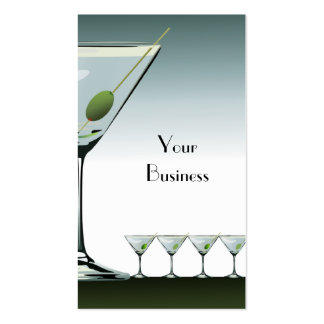 Martini Cocktail Business Card
