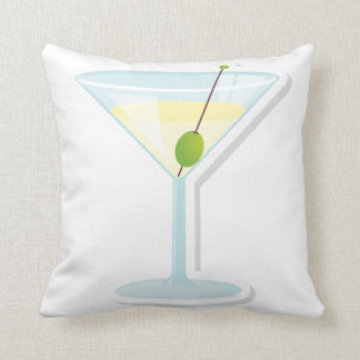 Martini Cocktail Throw Pillow