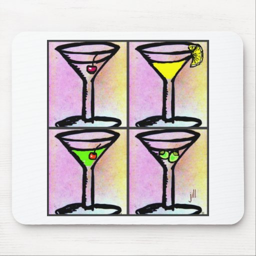 MARTINI COLLAGE print by jill Mousepads