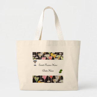 Martini Custom Party Favors Large Tote Bag