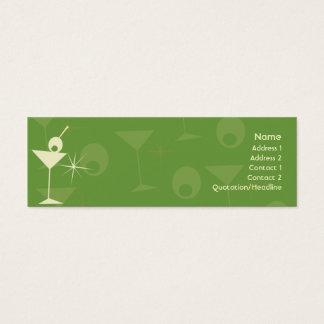 Martini Dazzle - Skinny Mini Business Card