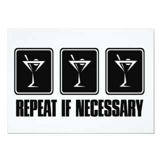 Martini Drink Signs - Repeat if Necessary Card