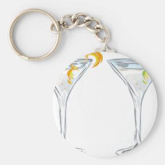 Martini Drink Sketch Keychain