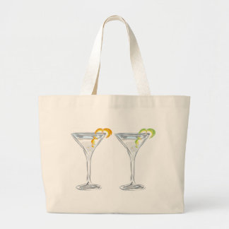 Martini Drink Sketch Large Tote Bag