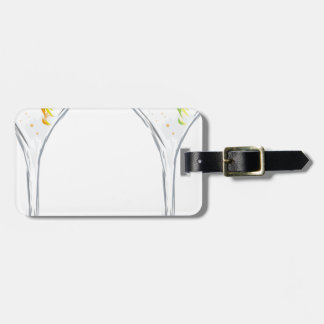 Martini Drink Sketch Luggage Tag