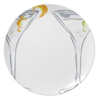 Martini Drink Sketch Plate