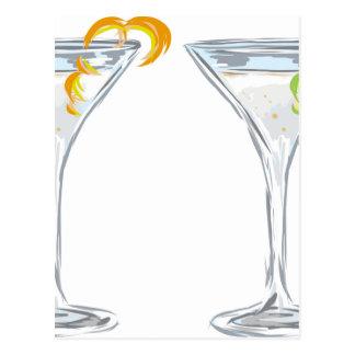 Martini Drink Sketch Postcard