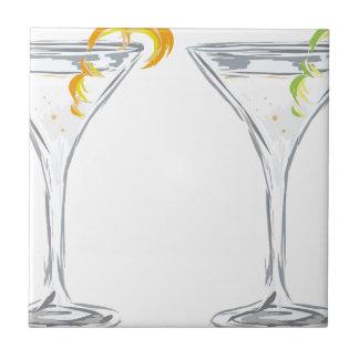 Martini Drink Sketch Tile