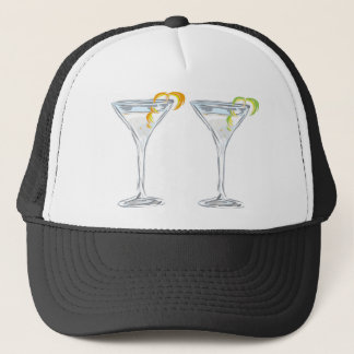 Martini Drink Sketch Trucker Hat
