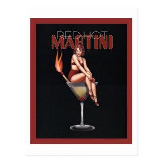 Martini d'un rouge ardent carte postale