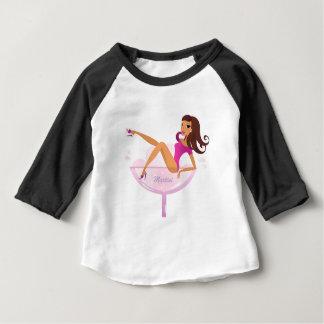 Martini girl original illustration baby T-Shirt