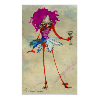 martini girl poster