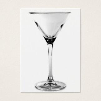 martini glass business card