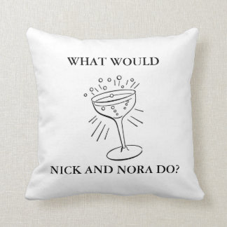 Martini Glass on Throw Pillow