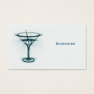 Martini Glass Sketch Business Card