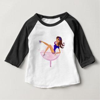 Martini luxury Girl in Glass Baby T-Shirt