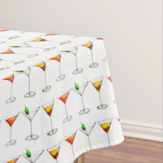 Martini Manhattan Cosmopolitan Drinks Cocktails Tablecloth