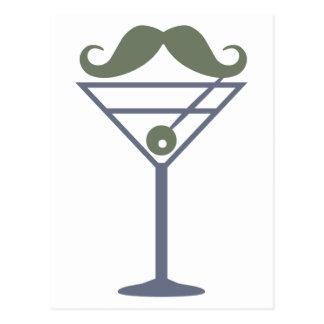 Martini Moustache custom postcard